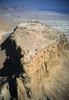 Masada - Israel's mountain fortress constructed by Herod the Great.