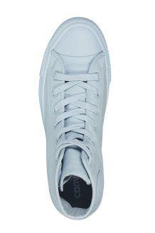 Sneakers Alte in Pelle<BR>Celeste
