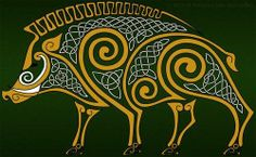 After two days of doing sketches and another two days of photoshoping I proudly present my first celtic animal artwork - The Boar. In celtic mythology i. Celtic Patterns, Celtic Designs, Celtic Symbols, Celtic Art, Celtic Tribal, Art Scandinave, Art Viking, Celtic Animals, Art Ancien