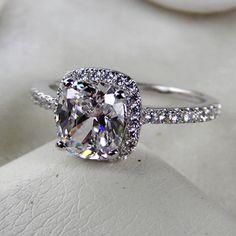 3 carat ring halo engagement ring