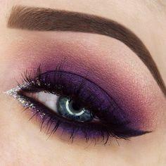 Makeup geek purple eyeshadow looks, purple makeup looks, purple smokey eye, Pageant Makeup, Prom Makeup, Makeup Geek, Beauty Makeup, Makeup Remover, Makeup Addict, Makeup Brushes, Purple Wedding Makeup, Purple Eye Makeup