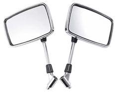 Big Chrome Retangle Mirrors for 1995 Yamaha Virago 535 XV…