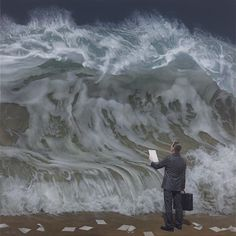 A beautifully surreal storm painting by Joel Rea