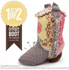 silhouette pattern by Samantha Walker... I am so not into the whole cowboy theme, but this is too too cute.