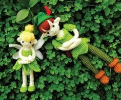Tinkerbell and Peter Pan Crochet Patterns - intermediate crocheting skills required