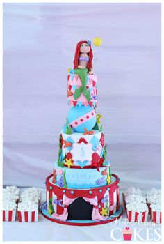 Little Mermaid Ariel at the Carnival Cake