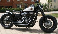 John's Harley Davidson Street Bob with tracker style Voodoo Fender | Rocket Bobs