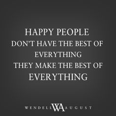We love happy people. #wendellwordstoliveby...
