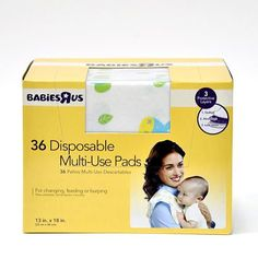 """Babies R Us Disposable Multi Use Pads - 36-Pack - Babies R Us - Babies """"R"""" Us ($6.99)"""
