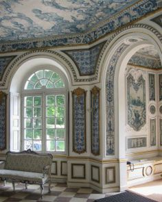 Pagodenburg (built 1716-19), a pavilion on the grounds of the Nymphenburg Palace, decorated with Dutch tiles.