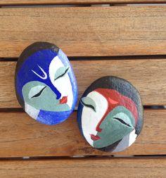 #Faces #painted #pebbles #stones #rocks #N4Joy