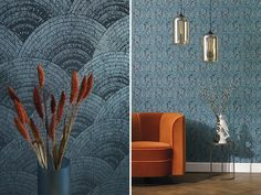 CASADECO OXFORD : The flower prints are wonderfully detailed, delicate and lush. The geometric shapes have tapered lines and beautiful curves. Noir Ebene, Decoration, Art Deco, Curtains, Empire, Oxford, Home Decor, Vip Card, Garage Floor Finishes