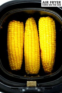 Air Fryer Corn On the Cob has so much more flavor than boiled or microwaved corn and it cooks in a fraction of the time! It's an easy side dish perfect for family dinners thanks to minimal prep and minimal ingredients! Slather it with butter and sprinkle with salt for a tried-and-true side dish crowd-pleaser. Barbecue Side Dishes, Side Dishes Easy, Side Dish Recipes, Roasted Corn, Potluck Recipes, Cob, Allrecipes, Dinners, Salt