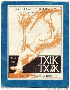 VIN DE TABLE ETIQUETTE CUVEE SPECIALE CHISTERA JAI ALAI / BIARRITZ TXIK TXZK - Delcampe.net