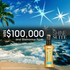 Time to #shine. Stop by the Shine Suite for your chance to win. #Suave #hair #oil #beauty