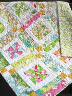 Lemonade Lollipop Baby QUILT PATTERN.... Easy...one Layer CAKE, Pdf available