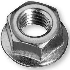 Nails, Screws & Fixings Hex Flange Nuts High Tensile Steel Non-Serrated Zinc Plated & Garden