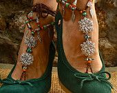 BOHEMIAN BAREFOOT WEDDING barefoot sandals Anklets crochet Gypsy Sandals sole less shoes crochet anklets antique flowers
