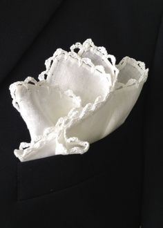 linen pocket square . . . beautiful
