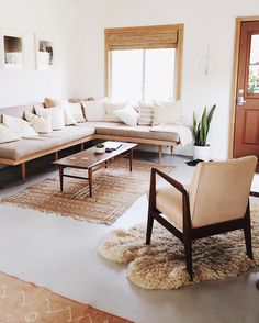 Neutral Themed Living Space in Joshua Tree
