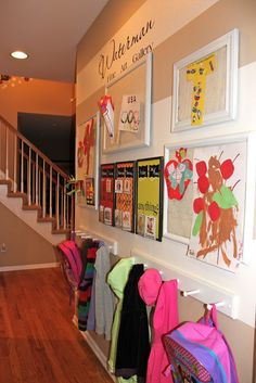 kids art gallery command center, cleaning tips, home decor, organizing, This hallway is all about the kiddos Kids Art Galleries, Family Command Center, Command Centers, Home Daycare, Family Organizer, Kids Corner, Home Organization, My Dream Home, Home Projects