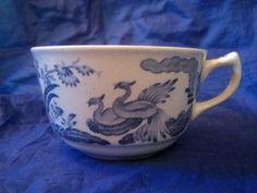 Blue Chinoiserie Bird Lattice Vintage Cup