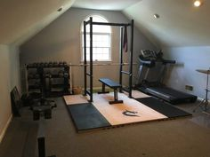 A weightlifting platform is a must for any garage gym. It protects your equipment and, more importantly, your home. Here's how you can build a DIY weightlifting platform that can also have a squat rack attached. Dream Home Gym, Diy Home Gym, Gym Room At Home, Home Gym Decor, Best Home Gym, Garage Gym, Basement Gym, Weightlifting Platform, Small Home Gyms