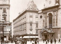 Kohlmarkt & Michaelerplatz around 1900. Looks exactly the same nowadays, except the fashion ;)