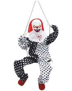 Animated Swinging Clown. Oh he's a cutie.