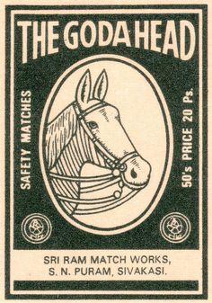 Buyenlarge 'The Goda Head' Vintage Advertisement Size: India Poster, Art Commerce, Matchbox Art, Vintage India, Vintage Labels, Vintage Packaging, Graphics Vintage, Vintage Ephemera, Light My Fire