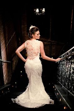 Claire Pettibone 'Sky Between The Branches' wedding dress from J. Majors Bridal (Charlotte, NC) http://www.clairepettibone.com/sky_between_the_branches | Photo: Cunningham Photo Artists