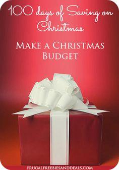 100 Days of Christmas Savings: Day 20, Make a Christmas Budget