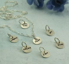 Tiny+Text+Word+Charms++Les+Petite+Collection++by+KathrynRiechert,+$20.00