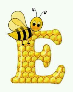 Alphabet letters bee on honeycomb. Bee Pictures, Scrapbook Letters, Spelling Bee, Bee Party, Bee Theme, Alphabet And Numbers, Alphabet Letters, Letter Art, Cool Cartoons
