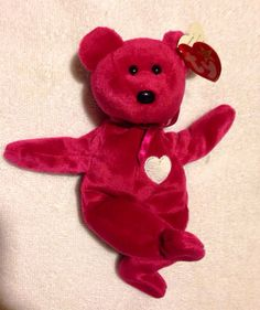 Valentina Beanie Babies Collection Red collectible TY Bear -Love Toy  Valentines vintage Toy Animal SALE e0baa3c6b713