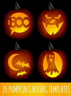 Pumpkins are very important part of Halloween. No pumpkins, no Halloween spirit. Whether you're carving, decorating, or using this classic fall gourd for Halloween inspiration, our pumpkin ideas will excite you all season. Feliz Halloween, Holidays Halloween, Halloween Crafts, Happy Halloween, Halloween Clothes, Halloween Jack, Halloween 2019, Halloween Stuff, Pumpkin Carving Stencils Free