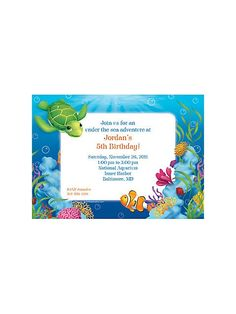 Ocean Party Personalized Invitation
