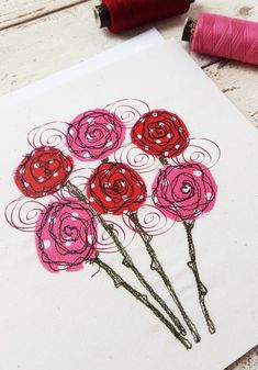 Your place to buy and sell all things handmade Freehand Machine Embroidery, Free Motion Embroidery, Free Machine Embroidery, Free Motion Quilting, Machine Quilting, Applique Quilts, Embroidery Applique, Embroidery Stitches, Embroidery Designs