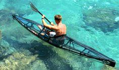 transparent, foldable kayakl