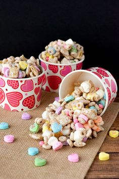 Simple Valentine's Day Snack Mix Recipe. This no-bake recipe will a hit for a Valentine's Day Party or February Birthday Party!