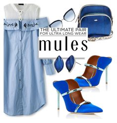 """M U L E S"" by keepitrealforme ❤ liked on Polyvore featuring F.E.V., Karl Lagerfeld, Malone Souliers and Urban Decay"