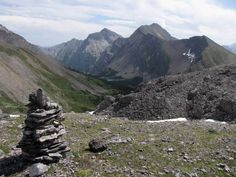 #hiking #ExploreAlberta  View of Mount Kidd from South Buller Pass in Kananaskis Country, Alberta, Canada.