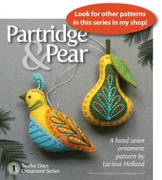 Turtle Dove PDF pattern a hand sewn wool felt by mmmcrafts on Etsy