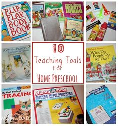 10 Teaching Tools for Home Preschool