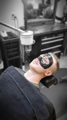 Mens Facial is a service alot of men are now asking for in Barbershop across America Mens Facial, Hot Steam, Facial Steaming, Black Mask, Barbershop, Stylists, America, Hair, Ideas