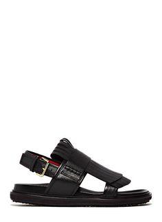 Marni Leather Fringe Sandals