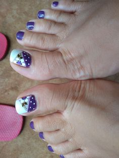 French Pedicure, Pedicure Nail Art, Pedicure Designs, Diy Nail Designs, Toe Nail Color, Toe Nail Art, Sexy Nails, Cute Nails, Nail Picking