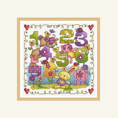 counting sample cross stitch pattern by DureneJones on Etsy