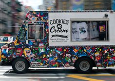 "Cookies N Cream, New York City  A DHL truck got the graffiti treatment to become a mobile shop for this New York–based men's streetwear brand. Follow the sound of hip-hop to find fitted caps reading ""Cookies Mob,"" logo-blasted tees, and a cache of collectible toys."