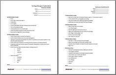 Printable Sign-in Sheets and Checklists for Stage Managers: Performance Checklist Form